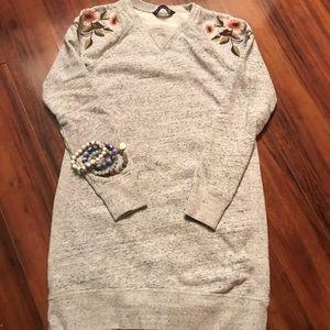 A&F Embroidered Sweatshirt Dress